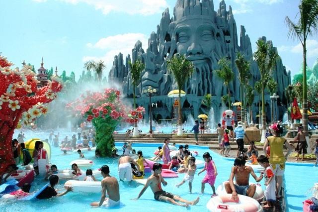 Khu du lịch suối tiên với nhiều dịch vụ vui chơi giải trí cho người lớn và trẻ em