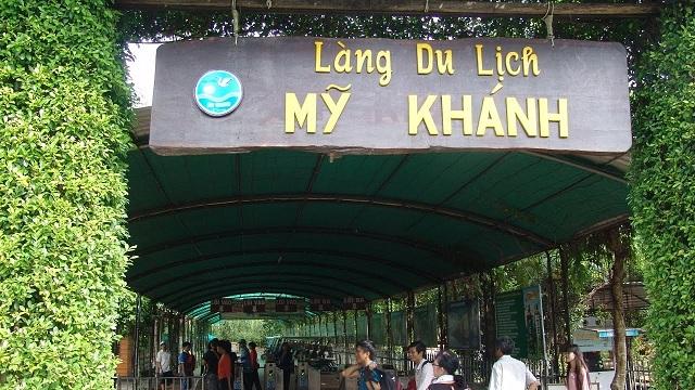 Làng du lịch Mỹ Khánh được nhiều khách tham quan trong và ngoài nước đến tham quan
