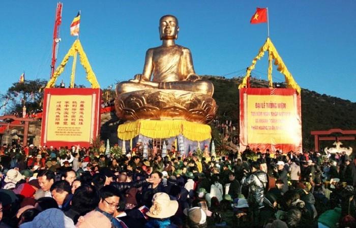 .Lễ hội Yên Tử được bắt đầu vào mùng 10 tháng Giêng hàng năm kéo dài đến hết mùa xuân