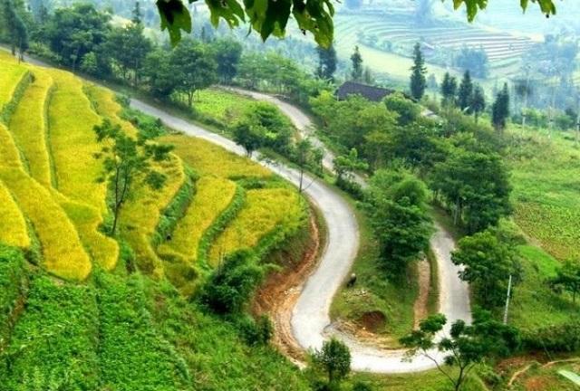 Cung đường Hà Nội – Lào Cai – Hoàng Su Phì nổi tiếng với cảnh những thửa ruộng bậc thang