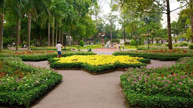 Công viên Tao Đàn với không gian xanh mát