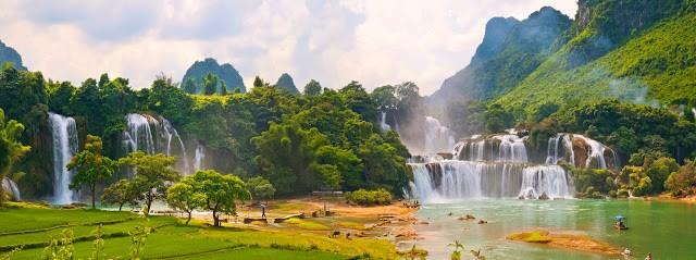 Thác Bản Dốc là một trong những thác nước lớn nhất của Đông Nam Á