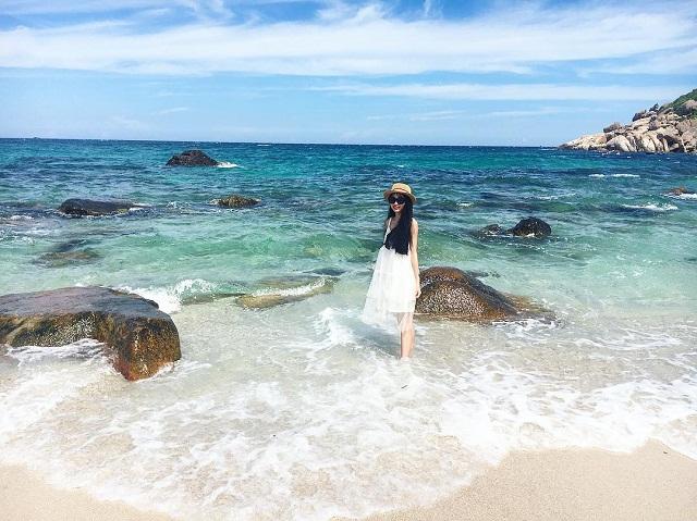 Đảo Bình Ba với không gian thiên nhiên trong xanh