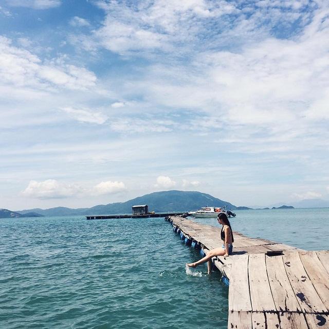 Đảo Điệp Sơn với không gian thiên nhiên thoáng đãng, mát mẻ