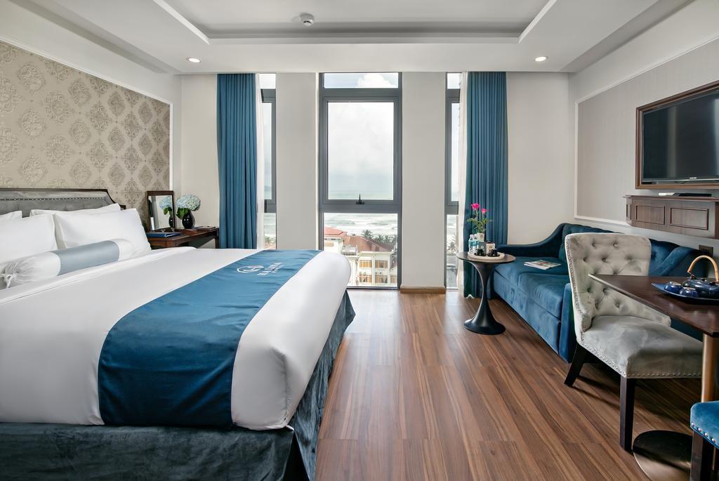 Ở khách sạn Halina Hotel And Apartment Đà Nẵng, màu xanh dương được lấy làm màu chủ đạo trong khách sạn