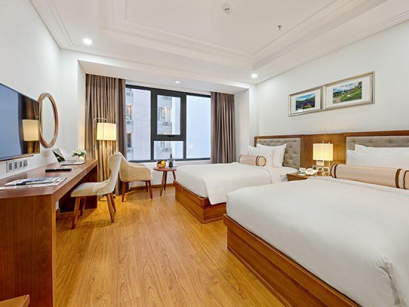 Khách sạn Paris Deli ở Đà Nẵng được thiết kế theo phong cách hiện đại và sang trọng với nội thất cao cấp