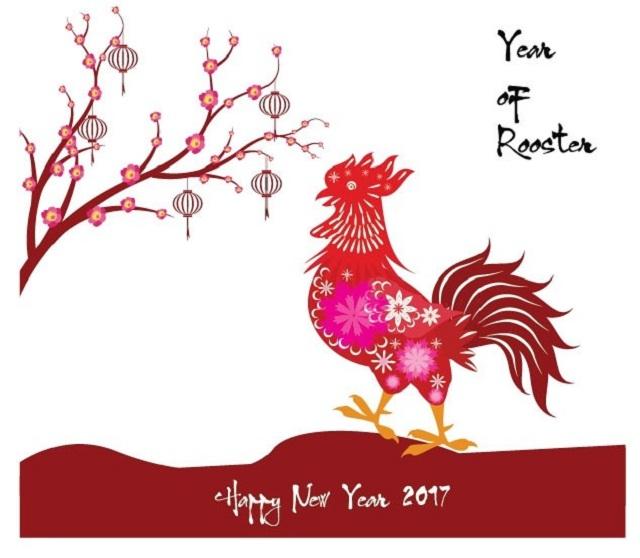 Năm 2017 là năm Đinh Dậu, con gà là con vật tượng trưng cho năm