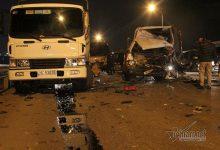 Photo of 4 ô tô tông nhau vỡ vụn trên cầu Thăng Long, 2 người bị thương