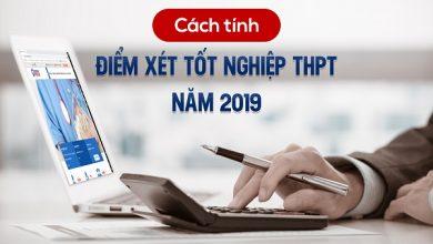 Cách tính điểm thi THPT quốc gia 2019