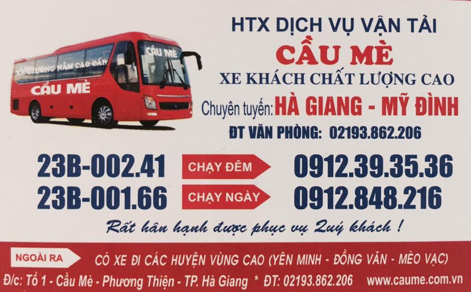 Nhà xe Cầu Mè (Hà Giang - Hà Nội)