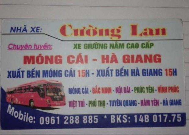 Nhà xe Cường Lan (Móng Cái - Hà Giang)