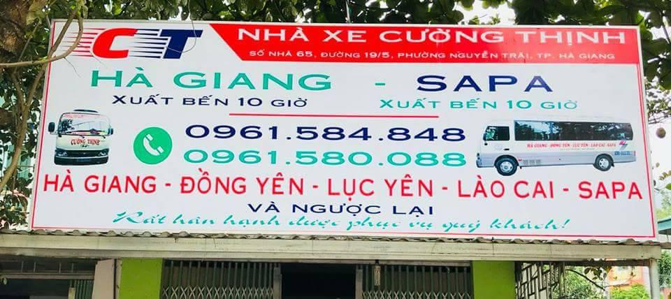 Nhà xe Cường Thịnh (Hà Giang đi Lào Cai, Sapa)