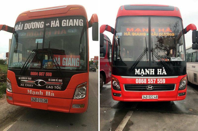 Nhà xe Mạnh Hà (Ninh Giang, Hải Dương - Hà Giang)