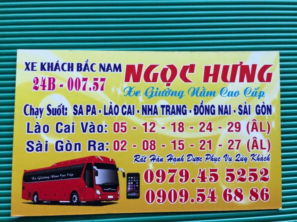 Nhà xe Ngọc Hưng (Sapa - Lào Cai - Sài Gòn)
