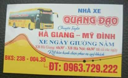 Nhà xe Quang Đạo (Hà Giang - Mỹ Đình, Hà Nội)