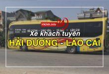 Xe khách tuyến Hải Dương - Lào Cai