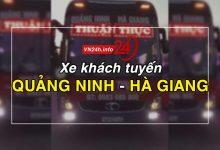 xe khách tuyến Quảng Ninh - Hà Giang