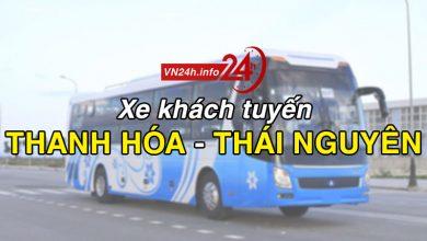 Xe khách tuyến Thanh Hóa đi Thái Nguyên