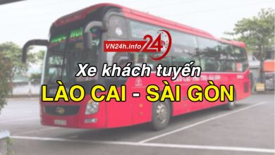 Xe khách tuyến Lào Cai - Sài Gòn (TP Hồ Chí Minh)