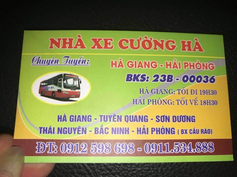 Nhà xe Cường Hà (Hà Giang - Hải Phòng)