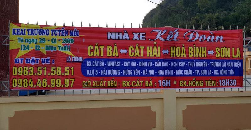 Nhà xe Kết Đoàn (Hải Phòng - Hòa Bình - Sơn La)