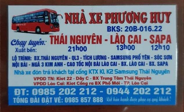 Nhà xe Phương Huy (Thái Nguyên - Lào Cai - Sapa)