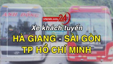 Xe khách tuyến Hà Giang - Sài Gòn (TP Hồ Chí Minh)