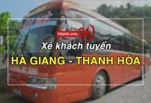 Xe khách tuyến Hà Giang - Thanh Hóa