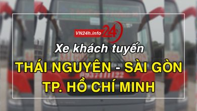 Xe khách tuyến Thái Nguyên - Sài Gòn (TP Hồ Chí Minh)