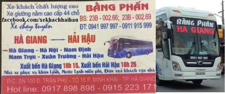 Nhà xe Bằng Phấn (Hà Giang - Hải Hậu - Nam Định)