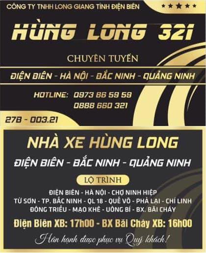 Nhà xe Hùng Long (Điện Biên - Bãi Cháy)