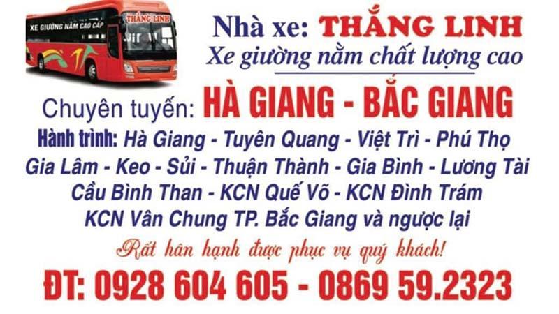 Nhà xe Thắng Linh (Hà Giang - Bắc Ninh - Bắc Giang))