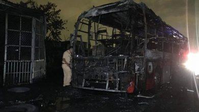 Photo of VIDEO: Xe khách giường nằm bốc cháy, hàng chục hành khách thoát nạn