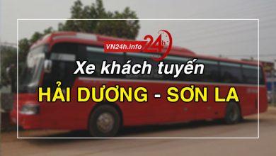 Xe khách tuyến Hải Dương - Sơn La