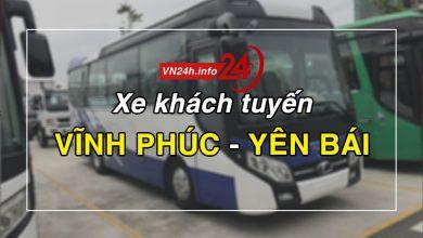 Xe khách tuyến Vĩnh Phúc – Yên Bái