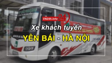 Xe khách tuyến Yên Bái - Hà Nội (Mỹ Đình, Gia Lâm, Yên Nghĩa)