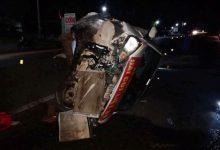 Photo of Container đâm nát xe con trên QL1, nhiều người may mắn thoát chết