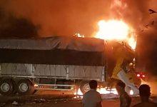 Photo of Tai nạn liên hoàn trên QL1 khiến 2 người ch.ết cháy trên cabin