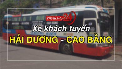 Xe khách tuyến Hải Dương - Cao Bằng