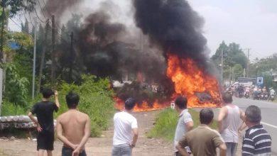 Photo of Xe khách bất ngờ bốc cháy trên đường khiến một người thiệt mạng