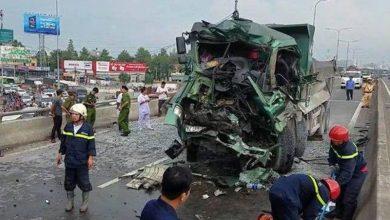 Photo of Tài xế xe ben tử vong trong cabin sau khi tông thẳng vào đuôi xe tải