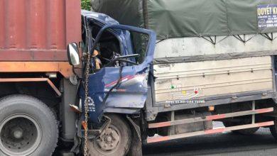 Photo of Tài xế xe tải tử vong trong cabin sau cú đâm vào đuôi xe Container