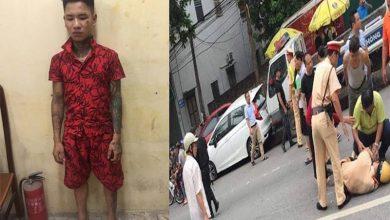 Photo of Bắt giữ thanh niên xăm trổ đâm gục Trung úy cảnh sát giao thông