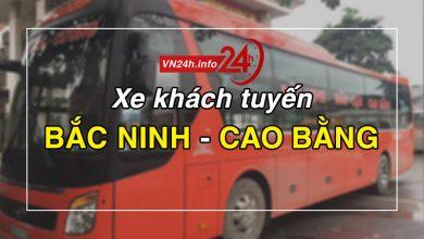 Xe khách tuyến Bắc Ninh - Cao Bằng