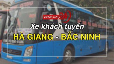 Xe khách tuyến Hà Giang - Bắc Ninh
