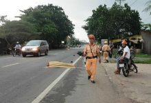 Photo of Thượng úy CSGT bị xe container cán tử vong trên đường làm nhiệm vụ
