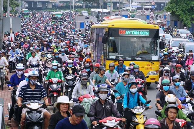 Các thành phố lớn tập trung dân cư đông đúc