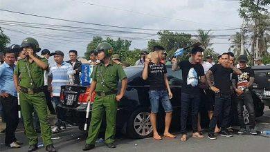 Photo of Giang hồ bao vây xe ô tô chở công an ở Đồng Nai