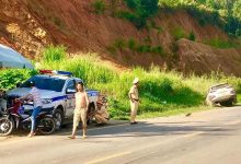 Photo of Tài xế say rượu lái ô tô lao thẳng vào xe CSGT Sơn La