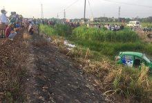 Photo of Kinh hoàng tàu hỏa tông taxi văng xuống ruộng, 5 người thương vong